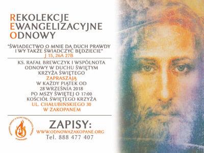 Rekolekcje Ewangelizacyjne Odnowy – 28.09.2018