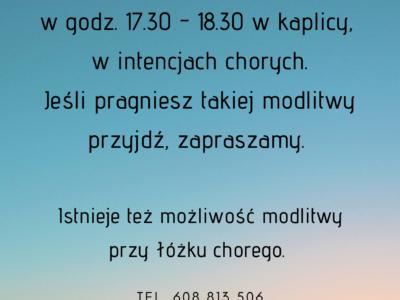 Posługa modlitwą wstawienniczą w szpitalu